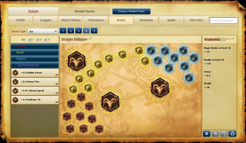 Straight Defensive Runes