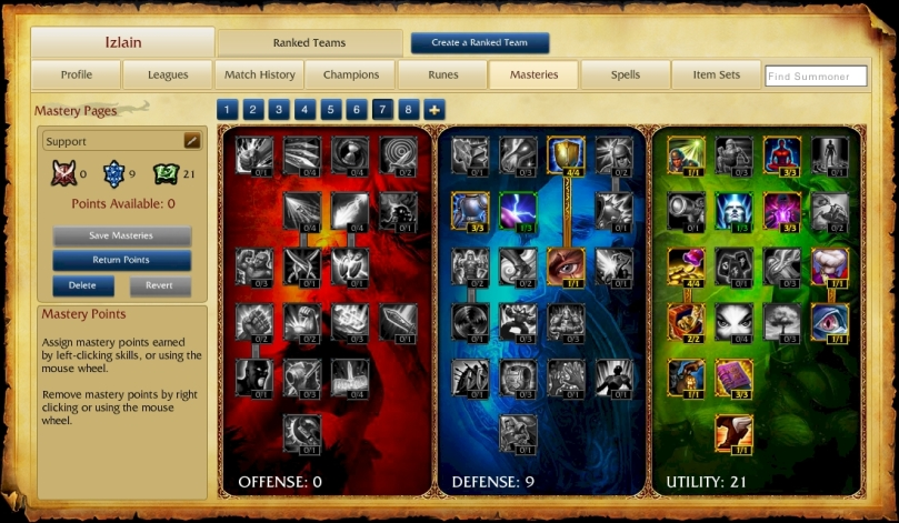 Support Masteries