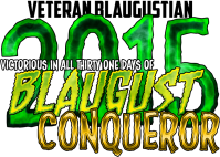 Conquered Blaugust in 2014 and 2015